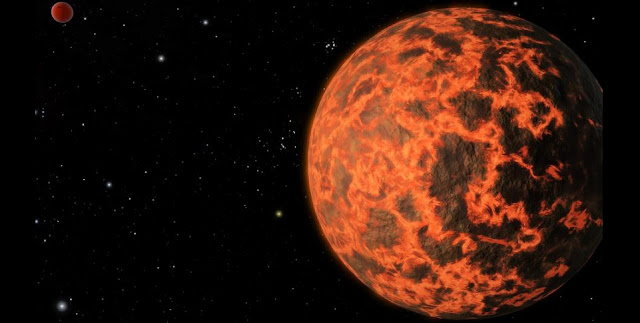 Washington University in St. Louis cosmochemists show that hot, rocky exoplanets with steam atmospheres may vaporize some of their rocky elements and then lose them to space, changing the bulk composition of the planet. Credit: NASA