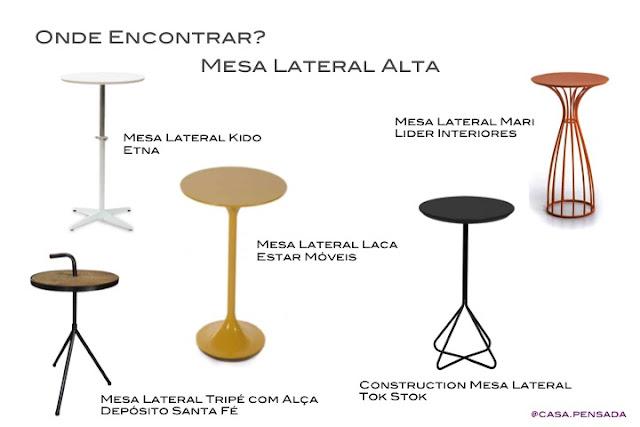 modelos mesa lateral alta