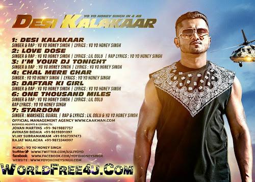 Cover Of Desi Kalakaar (2014) Full Album Mp3 Songs Free Download Listen Online At worldfree4u.com