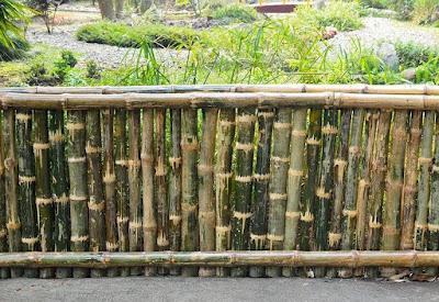 Desain Pagar Bambu Unik Sederhana