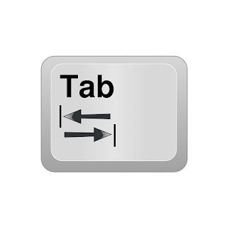 شرح زر التاب tab key explained