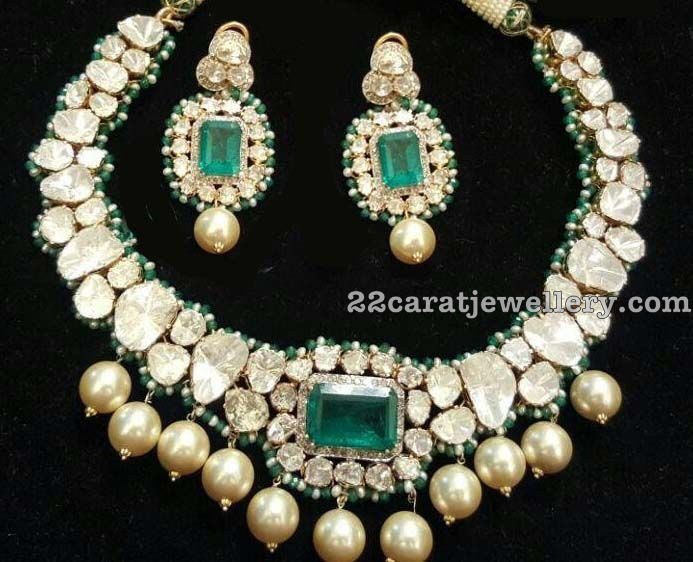 Flat Diamond Set By Zaveri Emporium Jewellery Designs
