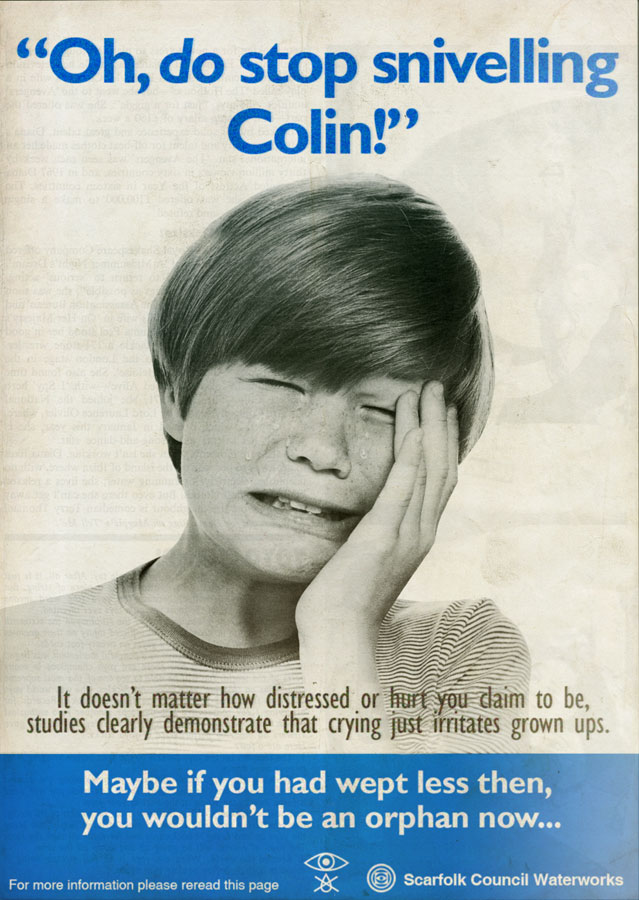 Scarfolk Council Quot The Anti Weeping Campaign Quot Magazine
