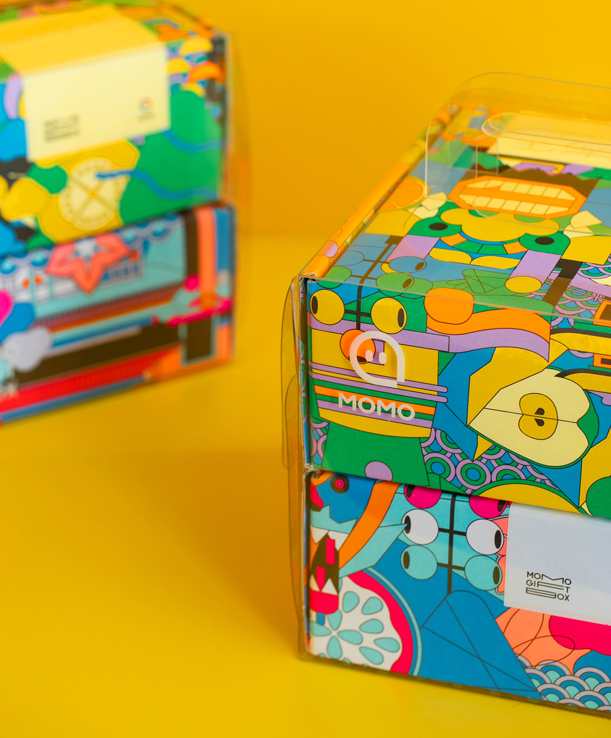 Example of multiple boxes made with the same dieline
