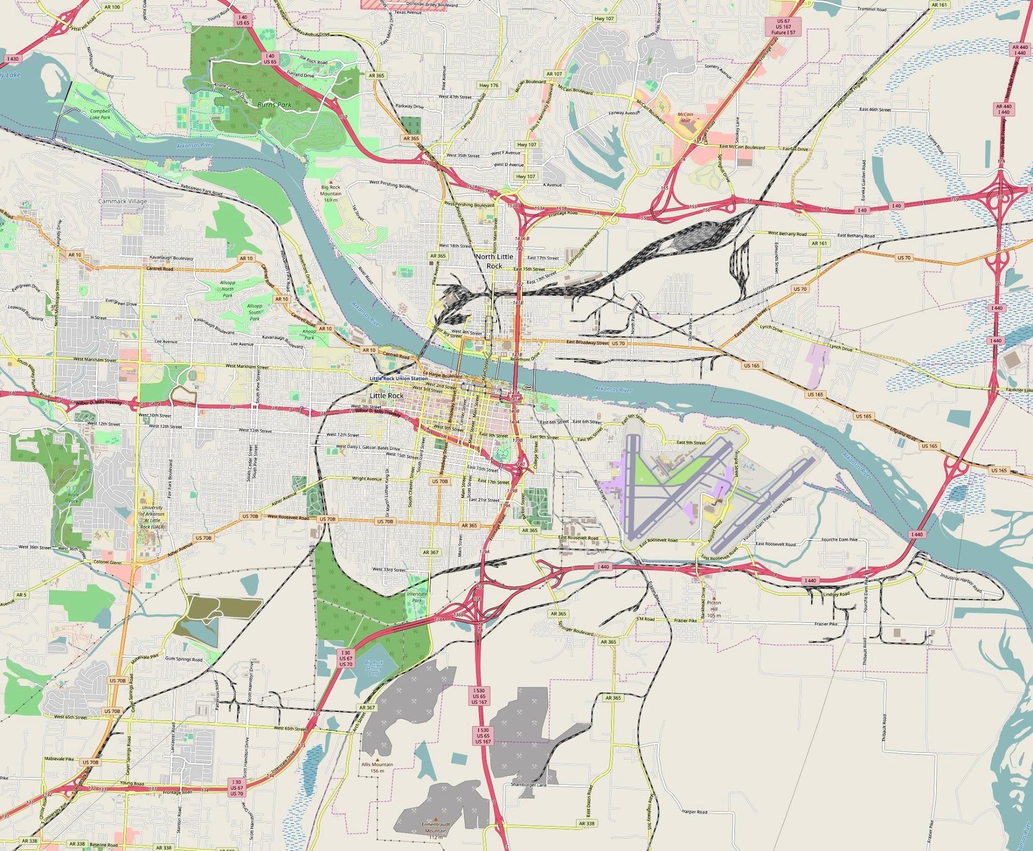 Little Rock, Arkansas Map - Car Radio | GPS