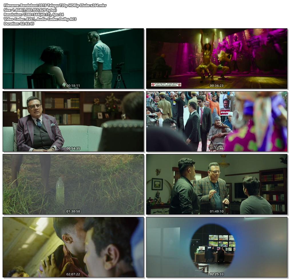 Bandobast 2019 Telugu 720p HDRip ESubs x264 | 480p 300MB | 100MB HEVC Screenshot