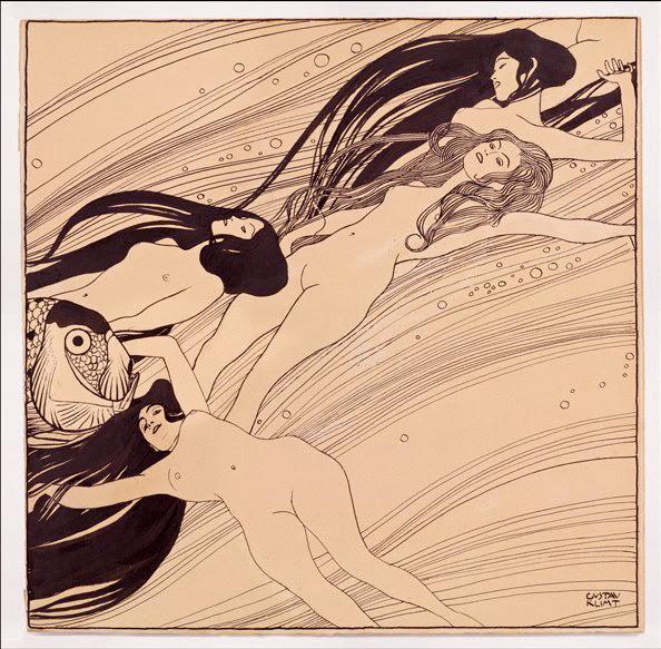 Gustav Klimt dibujos eróticos