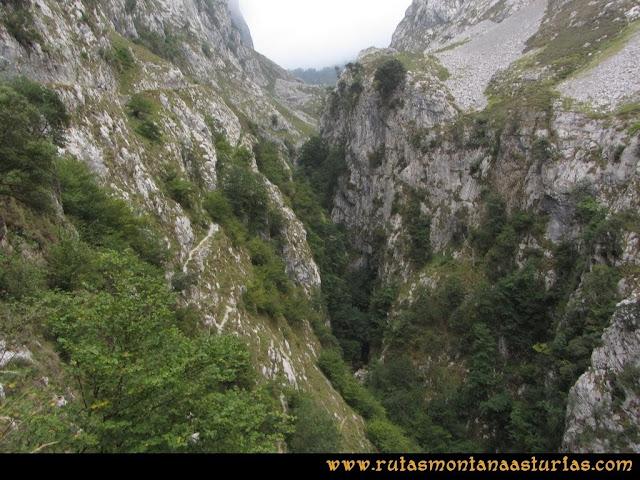 Ruta Poncebos a Cabrones por Camburero y Urriellu: Garganta