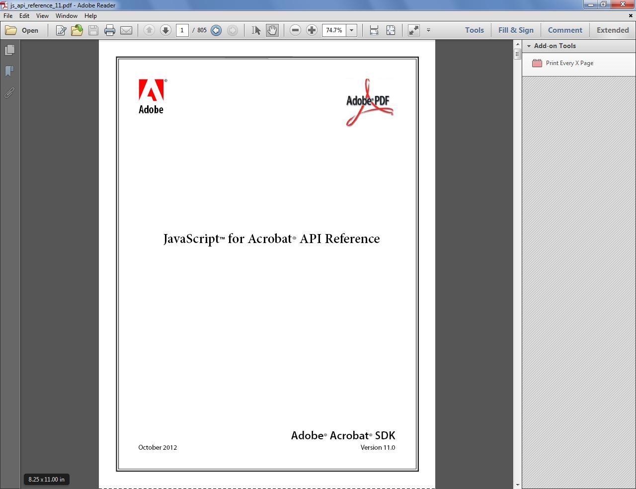 Custom Made Adobe Scripts Acrobat Reader Print Every