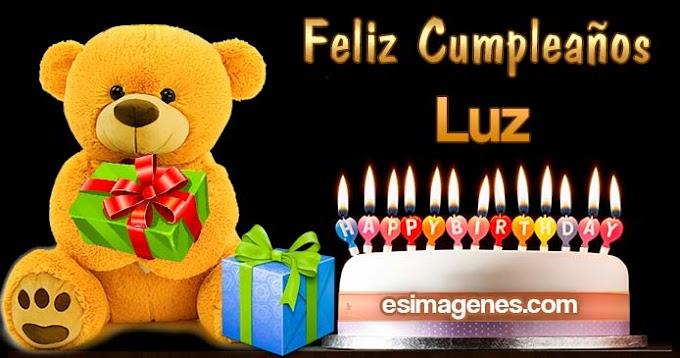 Feliz cumpleaños Luz