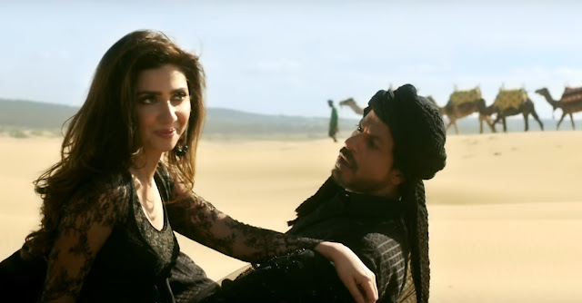 """Zaalima"" song from Raees, Mahira Khan, SRK"