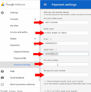link bank details to google adsense account