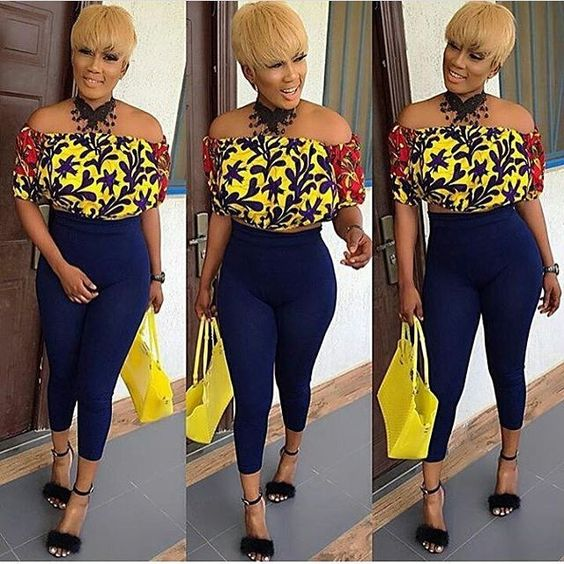 c803ee212c56b2 Below are stylish and trendy ankara tops to wear with jeans outfit. These  will help you get started