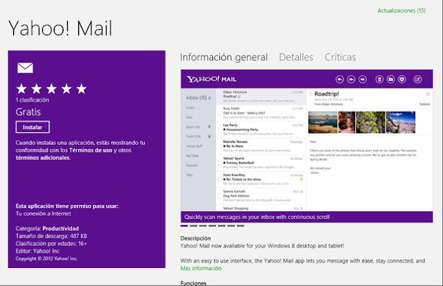 App Yahoo mail untuk Windows 10 sudah diluncurkan