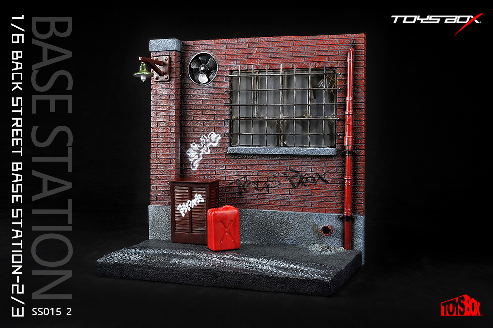 Toys Box 1/6th scale Back Street Base Station Diorama