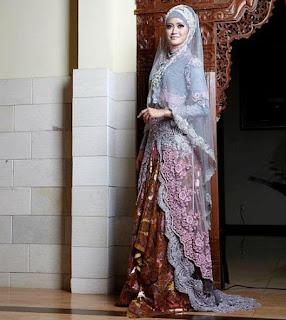 Model Kebaya Pengantin Muslimah 2016