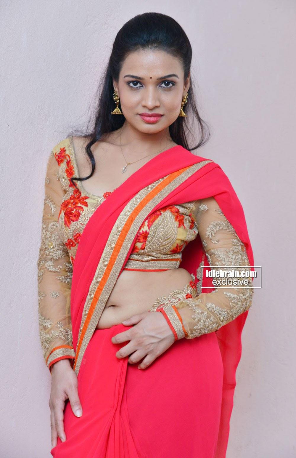 Bhimbika Stunning South Indian Actress in saree and Choli Must see
