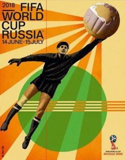 Poster del Mundial Rusia 2018: presentaron el afiche oficial del mundial y Lev Yashin será la imagen de la Copa