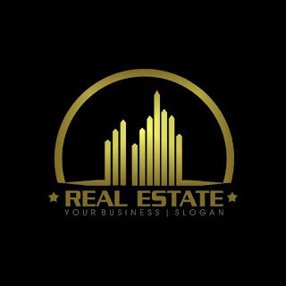Gold Real Estate Logo Template Free Download Vector CDR, AI, EPS and PNG Formats