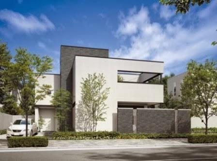 tampak depan rumah minimalis 2 lantai