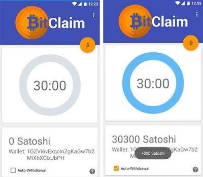 bukti bayar aplikasi bitclaim