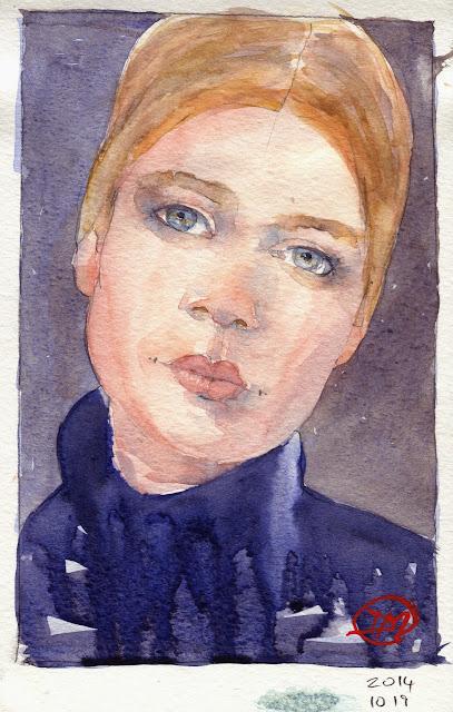 Watercolour portrait by David Meldrum
