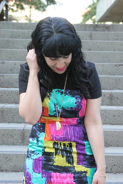 Trina Turk Multi Color Sheath Dress Office Style Outfit
