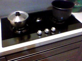 kompor gas kitchen set - contoh hasil-hasil produksi setting desain interior dari workshop kami