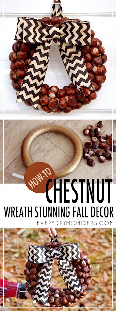 DIY Holiday Chestnut Wreath (Make for under $5 and under 1 hour)