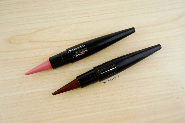 essence 2 in 1 lipstick and liner lush berry wintage rose review swatches