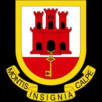 Logo Gambar Lambang Simbol Negara Gibraltar PNG JPG ukuran 200 px