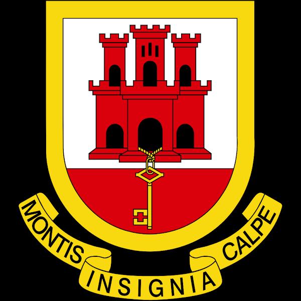 Logo Gambar Lambang Simbol Negara Gibraltar PNG JPG ukuran 600 px