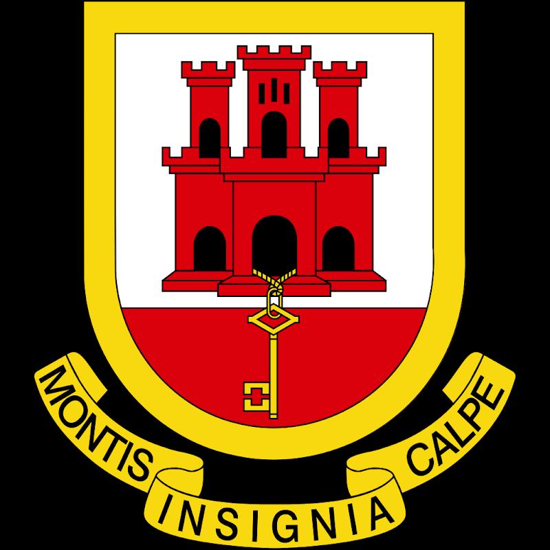 Logo Gambar Lambang Simbol Negara Gibraltar PNG JPG ukuran 800 px