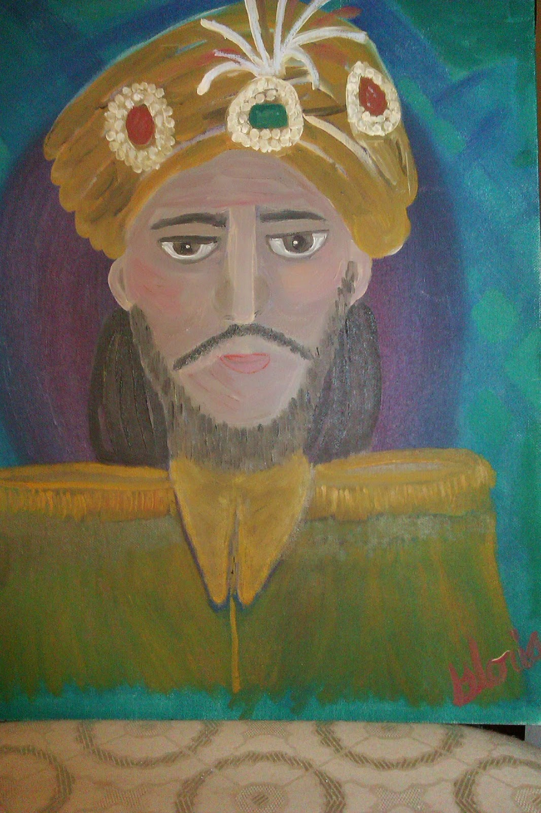 """The Sultan"" oil painting by Gloria Poole; yr 2007"