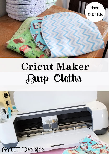 Use this free baby burp cloth pattern to sew your own burp cloths using your Cricut Maker.