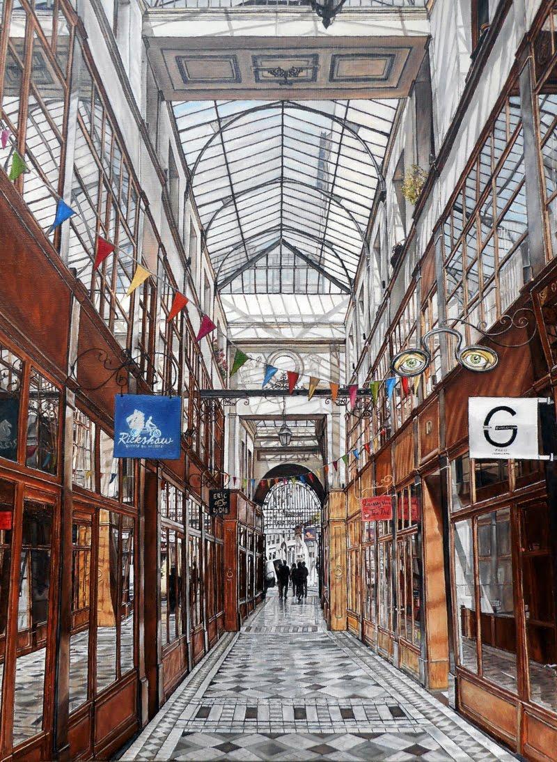 Passage du Grand Cerf, Paris 2ème, huile sur toile, 61x46cm. 2015.