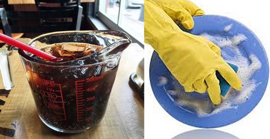 Truques de Limpeza com Coca-Cola - -Detergente para lavar louças