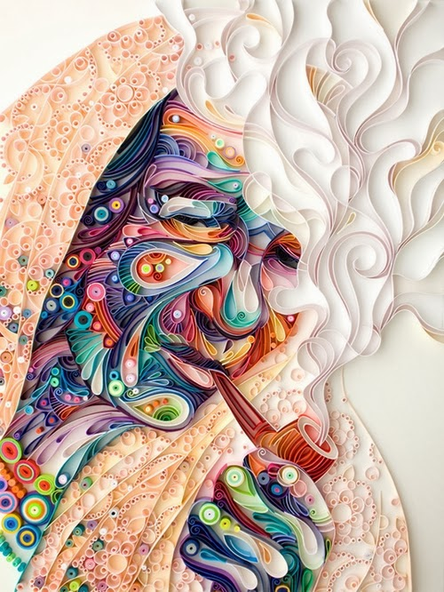 03-Quilling Portraits Russian Yulia Brodskaya Advertising -www-designstack-co
