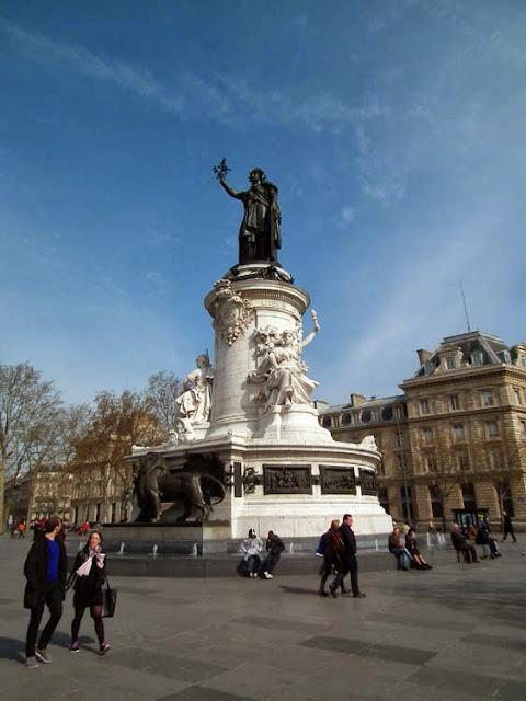 Place de la Republique, Paris, France. Photo by Loire Valley Time Travel.