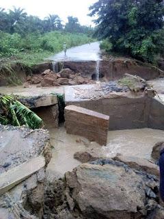 Rainfall washed  away Ondo Bridge