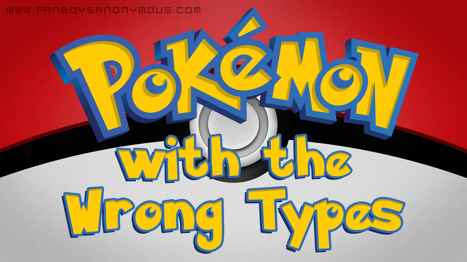 list of Pokemon with wrong typing