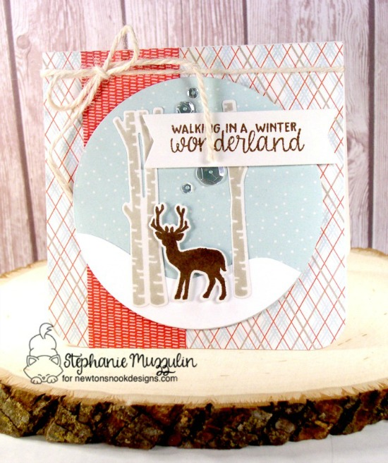 Deer in Birch Woods Cards by Stephanie Muzzulin | Serene Silhouettes stamp set by Newton's Nook Designs #newtonsnook