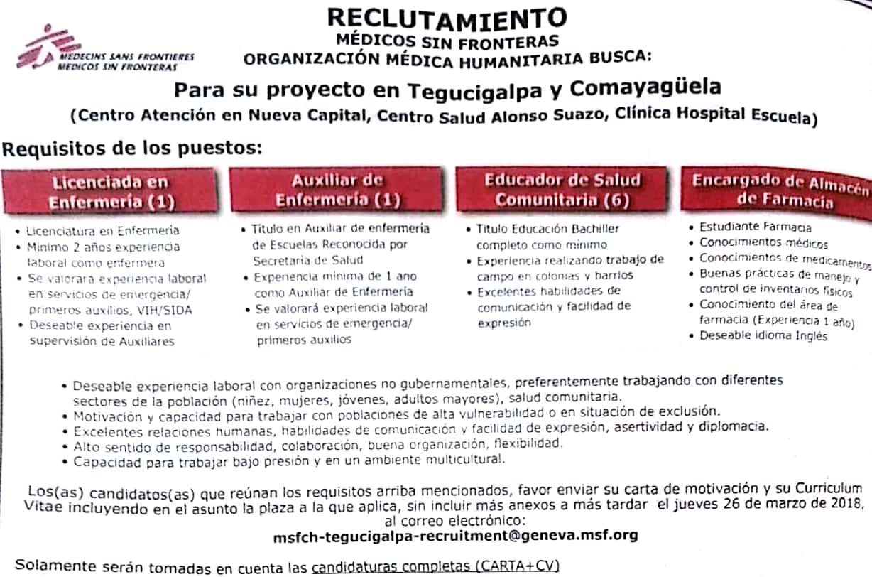 Enfermeras Educador Salud Comunitaria Encargado De Almacén