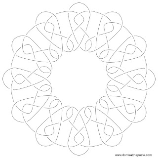 knotwork embroidery pattern