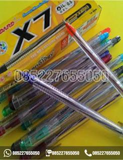Ballpoint Standard X7, Pulpen Standard X7, alat tulis sekolah, 0852-2765-5050
