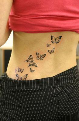 Foto Tattoo Design Butterfly Kupu Di Tubuh Wanita 17
