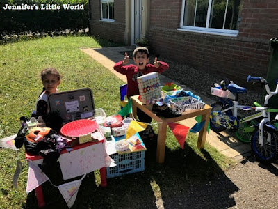 Children doing a garage sale