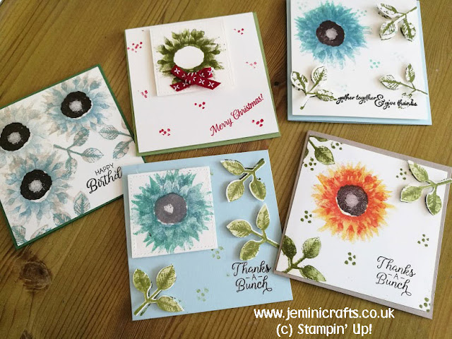 Fun sunflower and Christmas card designs