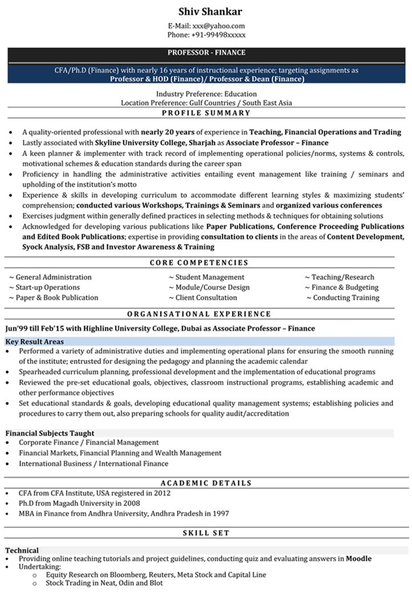 how to make impressive resume for freshers