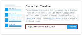 Cara Membuat Widget Twitter Di Blogger